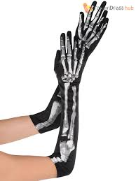ladies skeleton bone print halloween costume accessory womens