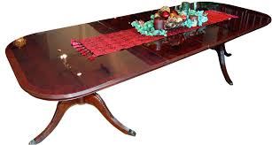 buy sheraton burl top mahogany dining table by mm signature from