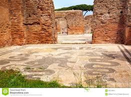 Neptun Bad Altes Römisches Bad Neptun Mosaik Ostia Antica Stockbild Bild