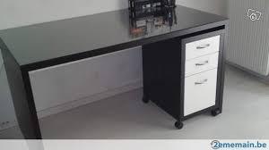 bureau vitre bureau ikea noir avec vitre en verre a vendre 2ememain be