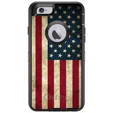 Maroon And White Flag Otterbox Defender For Iphone 6 6s 7 8 Plus X Red White Blue Usa
