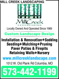 Landscaping Columbia Mo by Mill Creek Landscaping U0026 Nursery Columbia Mo 65203 Yellowbook