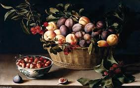 Basket Of Fruit Life With A Basket Of Fruit Oil On Panel By Louise Moillon 1610