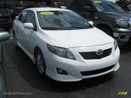 2010 toyota corolla s for sale 2010 toyota corolla s in white 486831 jax sports cars