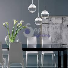 tavoli design cristallo lada sospensione soffitto led 3 sfere pendenti cristallo vetro s
