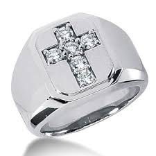 men rings platinum images Massive diamond cross men 39 s pinky ring gold platinum jpg