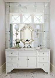 Polished Nickel Bathroom Mirrors by Atlanta Polished Nickel Mirror Powder Room Traditional With