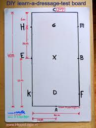 diy learn a dressage test board hippologic