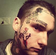 crazy tattoo on face man tattoos for men