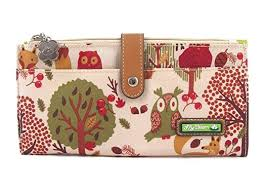 bloom wallet bloom large travel wallet forest owl at women s