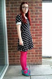 black polka dot new look dresses pink h u0026m tights teal asda