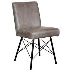 Industrial Dining Chair Modern Dining Furniture Leather Dining Chair Modish Living