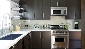 glass tile backsplash with dark cabinets espresso cabinets contemporary kitchen jeff lewis design
