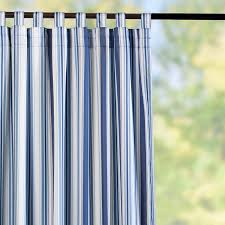 tab top semi opaque outdoor curtain panels nautical blue stripe