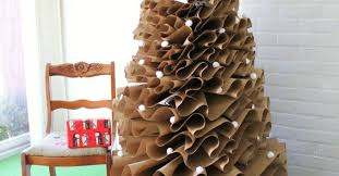paper christmas decorations how to make a size brown paper christmas tree hometalk