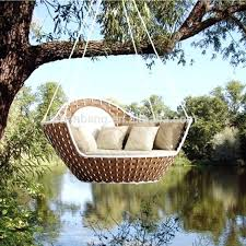 outdoor floating bed round swing bed outdoor hanging lounger floating bed swing bed