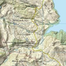 Asturias Spain Map by Spain Topo Full