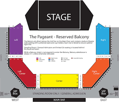 seating maps the pageant