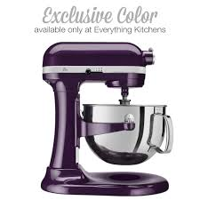 designer kitchen aid mixers kitchenaid 6 quart professional 600 stand mixer plumberry purple