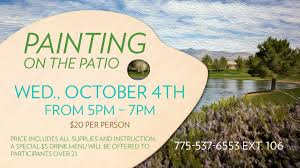 Patio Supplies by Painting On The Patio Mountain Falls Golf Club Mountain Falls