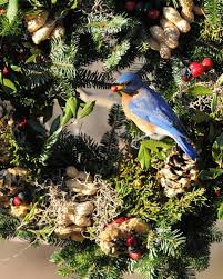 for the birds wreaths christmas greenery can be reused
