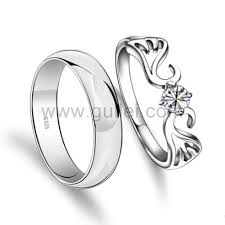 promise ring sets for him and engravable angel wings mens women promise rings set personalized