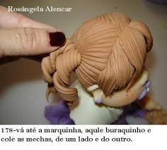 Cake Decorating Figures How To Make How To Make A Doll Wig Doll Hair Different Hair Styles Via