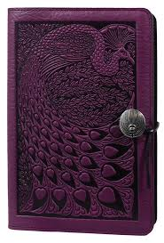 leather journal cover diary peacock oberon design