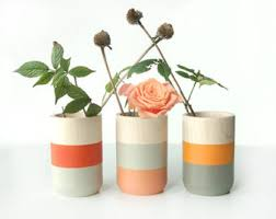 Home Decor Vase Wooden Vases Home Decor For Flowers And More Set Of 3