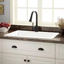 granite composite farmhouse sink kitchen glossy granite composite sinks for minimalist kitchen ideas