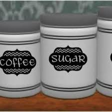 kitchen canister labels chevron kitchen canister labels on luulla