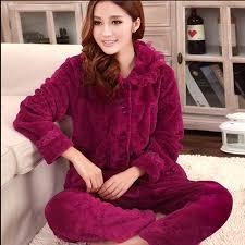 fleece sleepwear aliexpress las winter warm c fleece pajamas sets