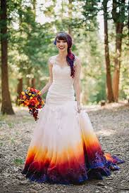 colorful wedding dresses this airbrushed wedding dress is going to take your