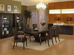 cheerful modern dining table decorating ideas with deluxe dark