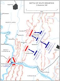 Map Of Usa During Civil War by Civil War Maryland Battle At South Mountain Crampton Gap