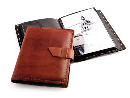 brag book rustic leather brag book by blue sky papers