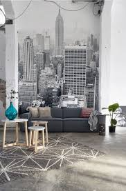 Living Room Furniture New York City In With This New York City Wallpaper Mural