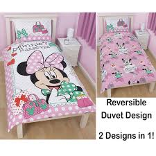 Minnie Mouse Bedspread Set Disney Mickey Or Minnie Mouse Single Duvet Cover Sets Kids Bedroom