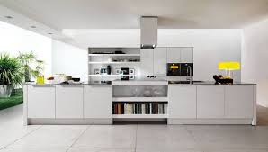 modern white nuance interior kitchen design ideas with white