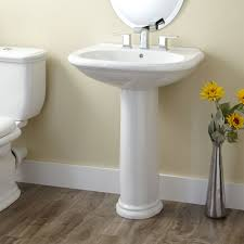 bathroom pedestal sink ideas oval white pedestal sink widespread faucet oval