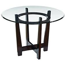 Amazoncom Monarch Tempered Glass Dining Table Inch Diameter - Dining room table glass
