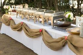 how to set a buffet table with chafing dishes catering gallery wood ranch
