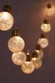 Plastic Globe String Lights Glitter Globe String Lights Urban Outfitters