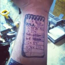 practical tattoo provides a shopping or to do list neatorama