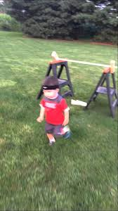 determined toddler adorably completes backyard u0027american ninja