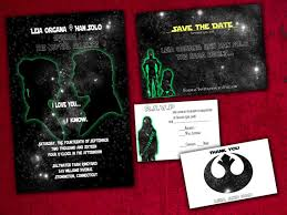 wars wedding invitations han and leia wars inspired wedding invitation save the
