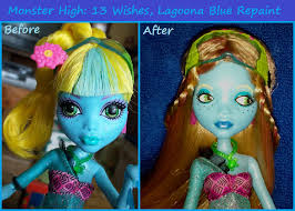 13 wishes lagoona high custom lagoona blue repaint by viraldollie on
