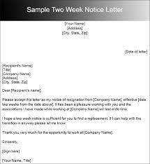 sample resignation letter template 2 resignation letter format