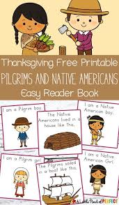 pilgrim boy book thanksgiving free printable easy reader book with pilgrims and