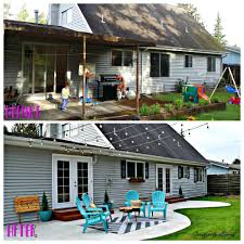 backyards modern raised garden beds enclosing back porch 26